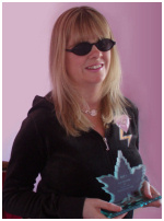 Hayley Oliver with Best New Artist Award 2007 from DJ Evy of Canada